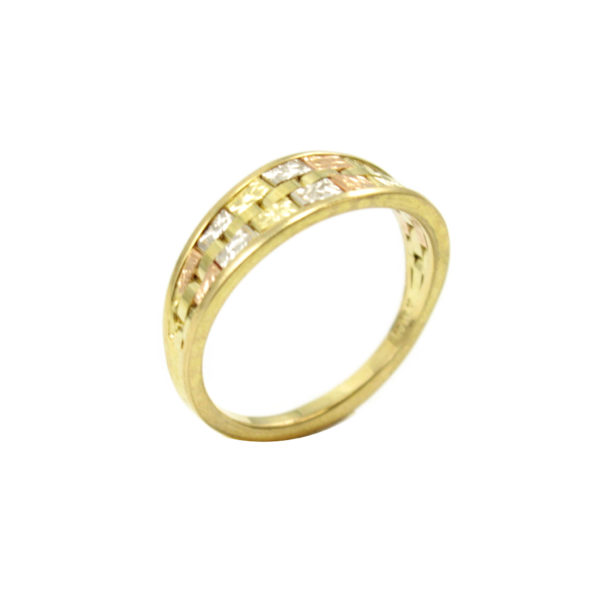 14k Tricolor Gold Ring Gold Jewelry Italian Gold Inc