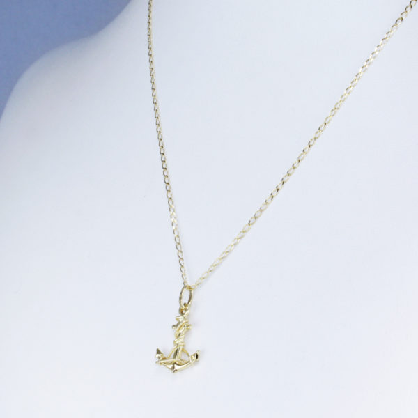 14k yellow gold anchor pendant necklace anchor design stability 12500 aloadofball Image collections