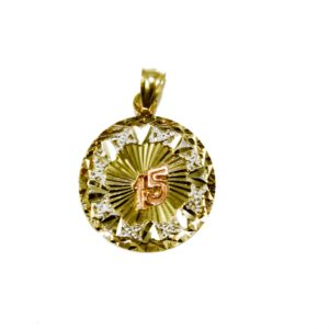 Pendants archives gold jewelry italian gold inc 14k tricolor gold round 15 pendant aloadofball Image collections
