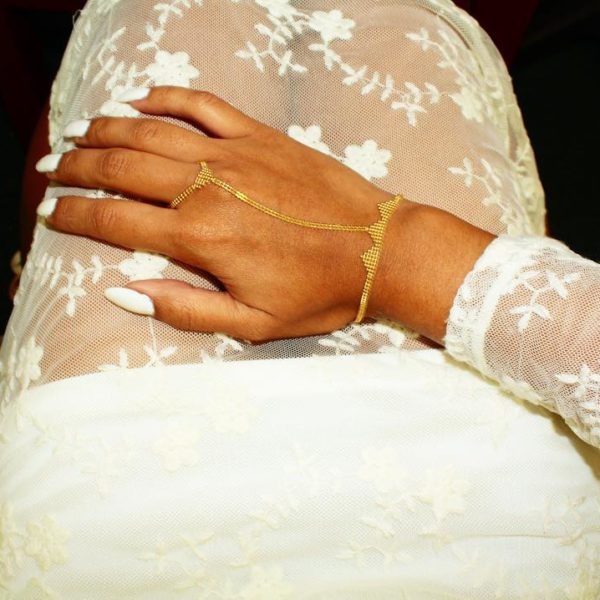 14k Yellow Gold Clone Slave Bracelet With Ring Attached Share Tweet Pin Mail 215 00