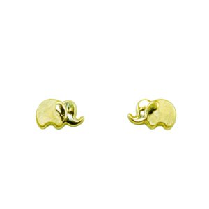 Stud earrings archives gold jewelry italian gold inc 14k yellow gold elephant earrings 080mm freerunsca Images